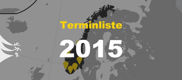 Terminliste 2015